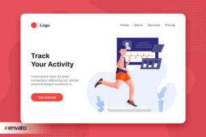 وکتور زیبای Track your activity Illustration concept